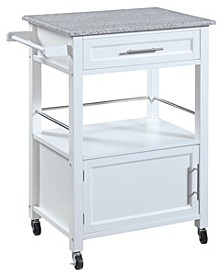 Mitchell Kitchen Cart with Granite Top