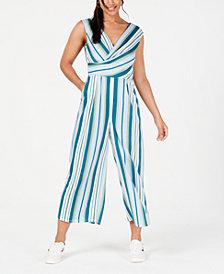 Be Bop Juniors' Striped Wrap Jumpsuit