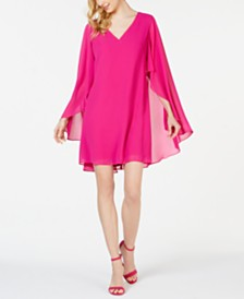 Vince Camuto Chiffon Cape Dress