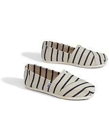 TOMS Alpargata Patterned Slip On Flats