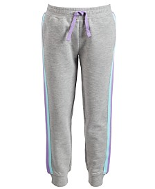 Ideology Little Girls Side-Striped Jogger Pants, Created for Macy's