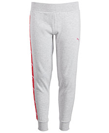 Puma Big Girls Logo-Trim Jogger Pants