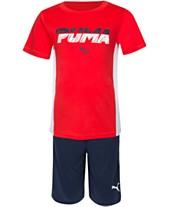091b176101b7d5 Puma Toddler Boys 2-Pc. Performance T-Shirt   Shorts Set