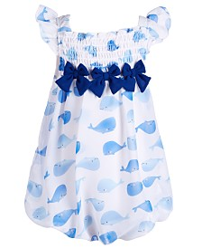 First Impressions Baby Girls Whale-Print Bubble Romper, Created for Macy's