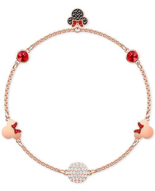 d49ac89af ... Swarovski Remix Rose Gold-Tone Crystal Fireball   Minnie Mouse Magnetic  Link Bracelet ...