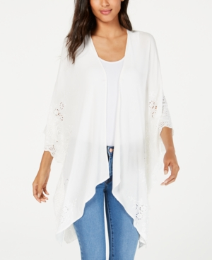 Karen Kane Tops EMBROIDERED KIMONO, A MACY'S EXCLUSIVE