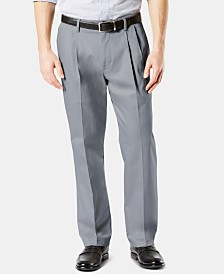 Dockers Men's Signature Lux Cotton Classic Fit Pleated Stretch Khaki Pants