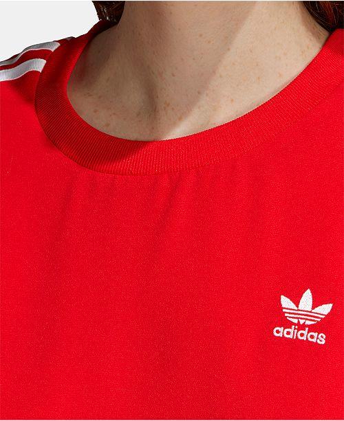 Femme Robes T Rouge Adidas shirt Flounce RobeAvis lFJ1cK