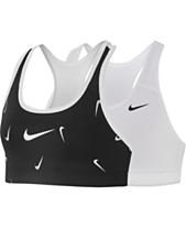 9986aa0b45f13 Nike Big Girls Pro Classic Reversible Printed Sports Bra