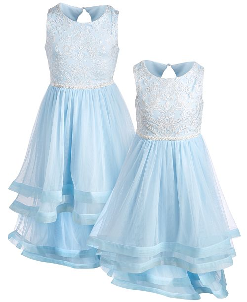 Speechless Sisters Embroidered High-Low Hem Dresses
