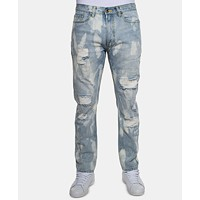 Deals on Sean John Men's Slim-Fit Bleached Jeans