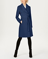 42cd4c341cc1b Calvin Klein Belted Wrap Trench Coat