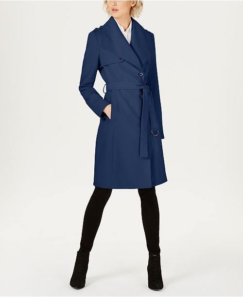 bd7060d5c9d9 Calvin Klein Belted Wrap Trench Coat & Reviews - Coats - Women - Macy's