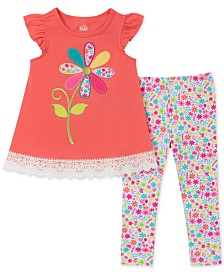 Kids Headquarters Baby Girls 2-Pc. Floral Tunic & Leggings Set