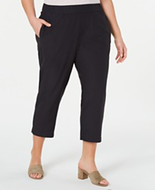 Eileen Fisher Plus Size Tapered Ankle Pants