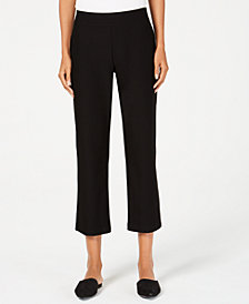 Eileen Fisher Flared Cropped Pull-On Pants, Regular & Petite