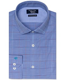 Original Penguin Men's Heritage Slim-Fit Stretch Brushed Plaid Dress Shirt