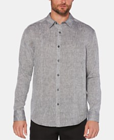 Cubavera Men's Pintucked Diamond Dobby Linen Shirt