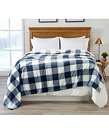 Premium Velvet Luxury Blanket with Buffalo Check Design Collection
