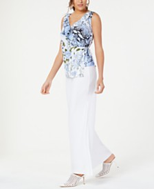 I.N.C. Ruffled Asymmetrical Wrap Top, Created for Macy's