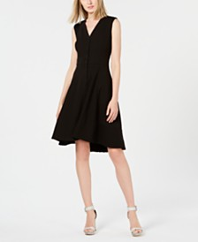 Calvin Klein Button-Front Fit & Flare Dress
