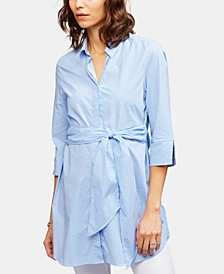 Maternity Tie-Front Shirt