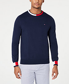 Tommy Hilfiger Men's Flag Colorblocked Sweater, Created for Macy's