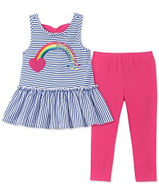 Kids Headquarters Little Girls 2-Pc. Bow-Back Tunic & Leggings Set