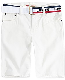 Little Boys 511 Belted Slim-Fit Sueded Shorts