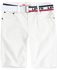 Levi's® Toddler Boys 511 Belted Slim-Fit Sueded Shorts