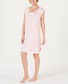 Batik Paisley-Print Jersey Knit Nightgown
