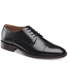 Johnston & Murphy Men's Sanborn Cap-Toe Lace-Up Oxfords