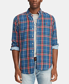 Polo Ralph Lauren Men's Big & Tall Classic Fit Double-Faced Cotton Shirt