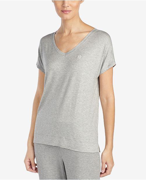 Lauren Ralph Lauren Logo Embroidery Short-Sleeve Pajama Top