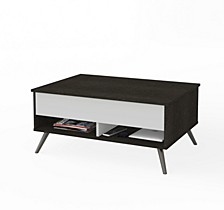 "Small Space Krom 37"" Lift - Top Storage Coffee Table"