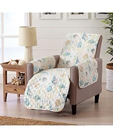 Sofa Saver Coastal Printed Reversible Recliner Furniture Protector