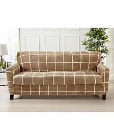 2 Piece Velvet Plush Printed Sofa Slipcover