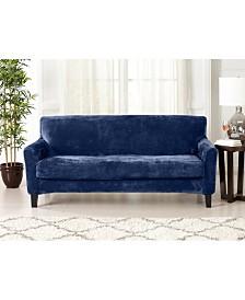 2 Piece Velvet Plush Solid Sofa Slipcover
