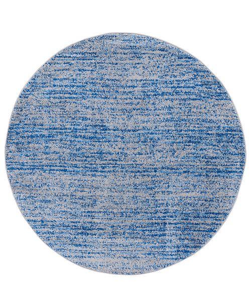 Safavieh Adirondack Blue and Silver 4' x 4' Round Area Rug
