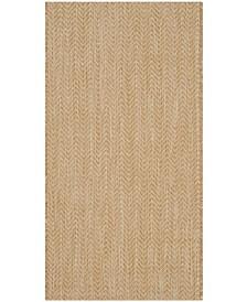 "Safavieh Courtyard Natural and Cream 2'7"" x 5' Sisal Weave Runner Area Rug"