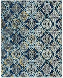 Evoke Royal and Light Blue 9' x 12' Area Rug