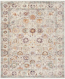 Illusion Light Gray and Cream 9' x 12' Area Rug