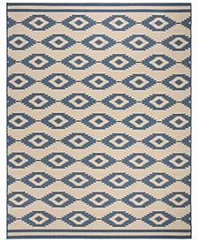 Linden Blue and Creme 9' x 12' Area Rug