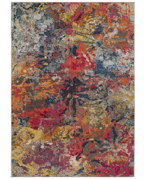 "Safavieh Monaco Blue and Orange 5'1"" x 7'7"" Area Rug"