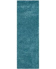"California Turquoise 2'3"" x 7' Runner Rug"