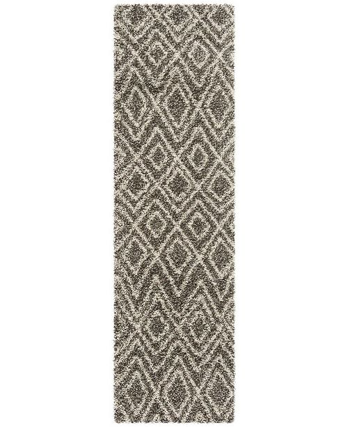 "Safavieh Hudson Grey and Ivory 2'3"" x 8' Runner Area Rug"