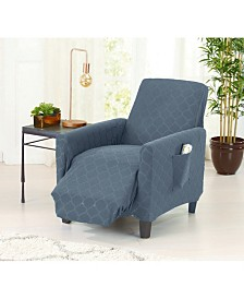 Form Fit Geometric Jacquard Stretch Recliner Slipcover