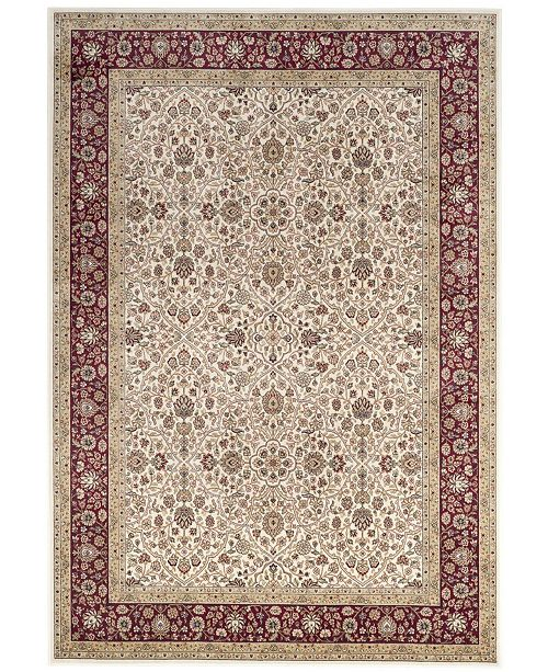 "Safavieh Atlas Ivory and Red 6'7"" x 9'6"" Area Rug"