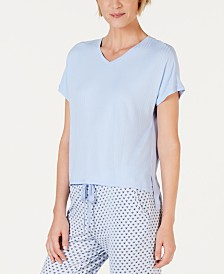 Alfani Super Soft Ribbed Pajama Top, Created for Macy's