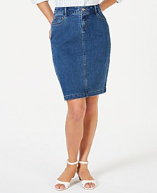 Denim Tummy-Control Skirt, Created for Macy's